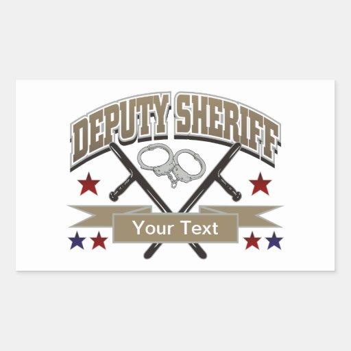 Personalized Deputy Sheriff Rectangular Sticker