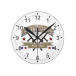 Personalized Deputy Sheriff Round Clocks