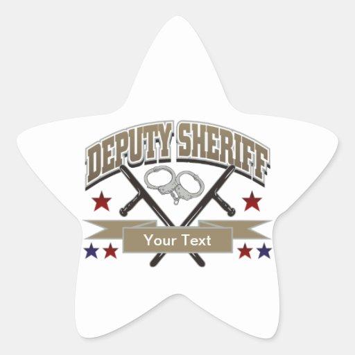 Personalized Deputy Sheriff Star Sticker | Zazzle