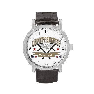 Personalized Deputy Sheriff Wrist Watch