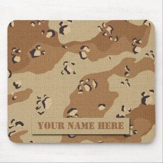Personalized Desert Camouflage Mousepad