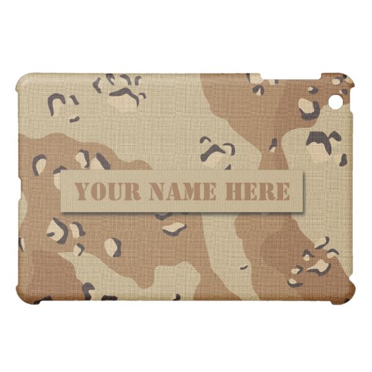 Personalized Desert Digital Camouflage iPad Mini Cover