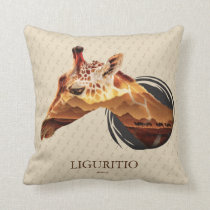 Personalized Desert Giraffe Design. Throw Pillow
