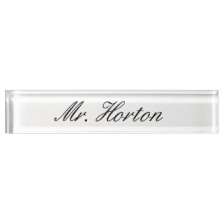 Personalized Desk Nameplate
