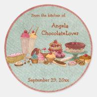 Personalized Dessert Recipe Stickers