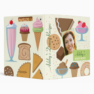 Personalized Dessert Recipes Binder with Photo