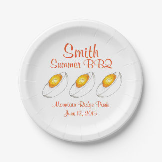 Personalized Deviled Egg Summer BBQ Paper Plates