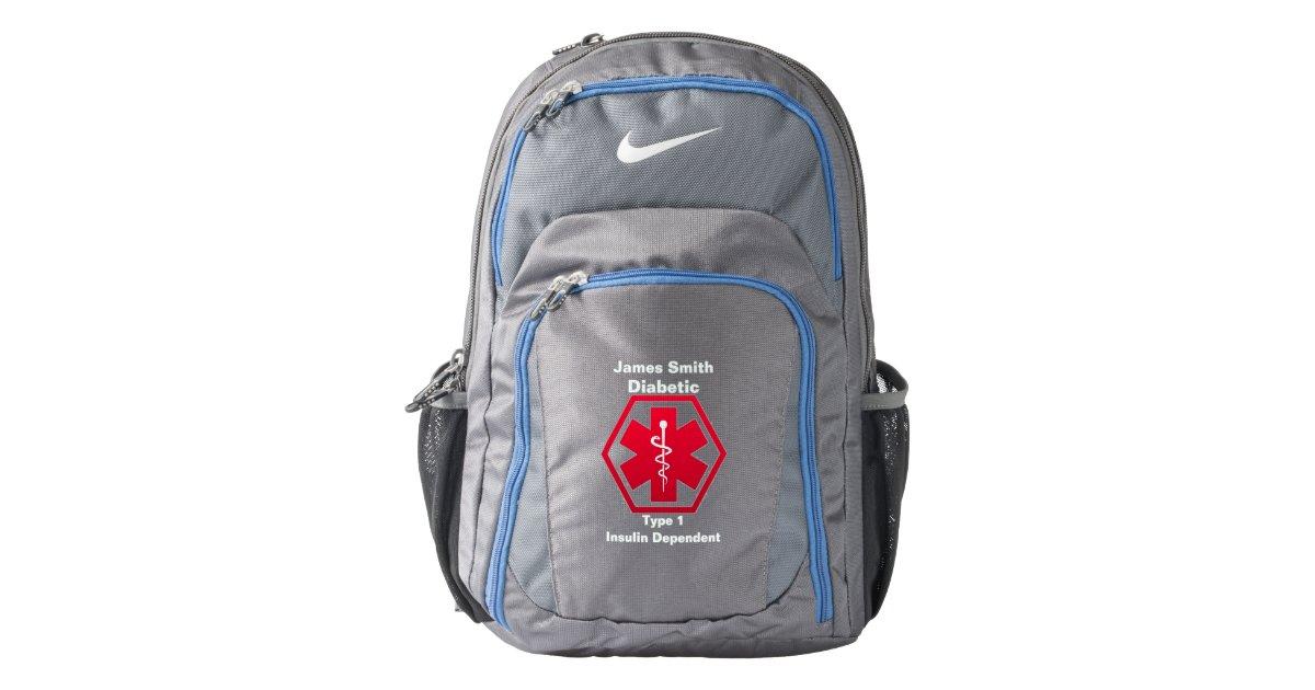 Diabetes Medical Alert Nike Backpack