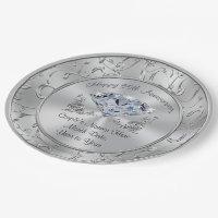 Personalized Diamond 60th Anniversary Paper Plates