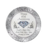 Personalized Diamond 60th Anniversary Plate