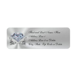Personalized Diamond Anniversary Invitation Labels