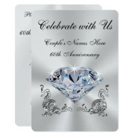 Diamond Anniversary Invitations Announcements Zazzle