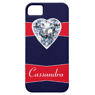 Personalized Diamond Name Plate iPhone5 case