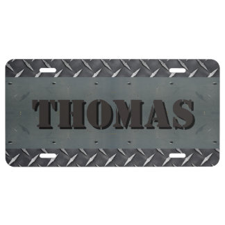 Personalized Diamond Plate Metal Texture