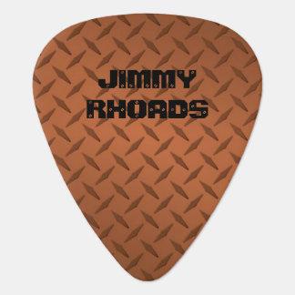 Personalized Diamondplate Copper Look Guitar Picks