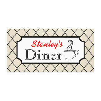 Personalized Diner Canvas