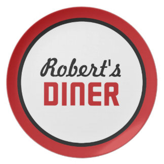 Personalized Diner Dinner Plate