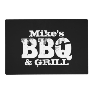 Personalized Dinner Placemats For Bbq Party at Zazzle