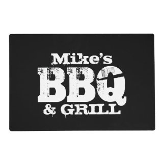 Personalized dinner placemats for BBQ party