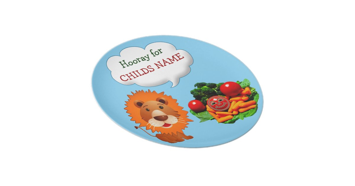 Personalized Dinner Plates For Kids To Eat Veggies Zazzle