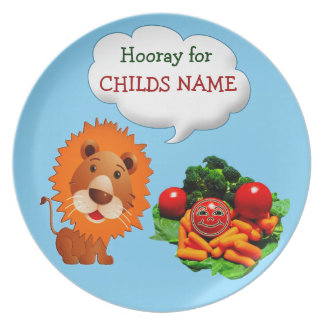 Personalized Dinner Plates for Kids to Eat Veggies