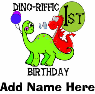 Personalized Dinosaur 1st Birthday Tshirt