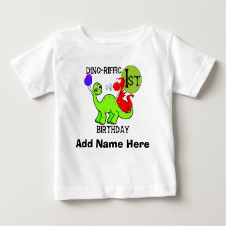 Personalized Dinosaur 1st Birthday Tshirt