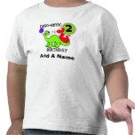 Personalized Dinosaur 2nd Birthday Tshirt
