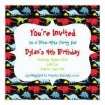 Personalized Dinosaur Birthday Party Invitations