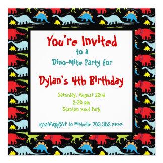 Personalized Dinosaur Birthday Party Invitations