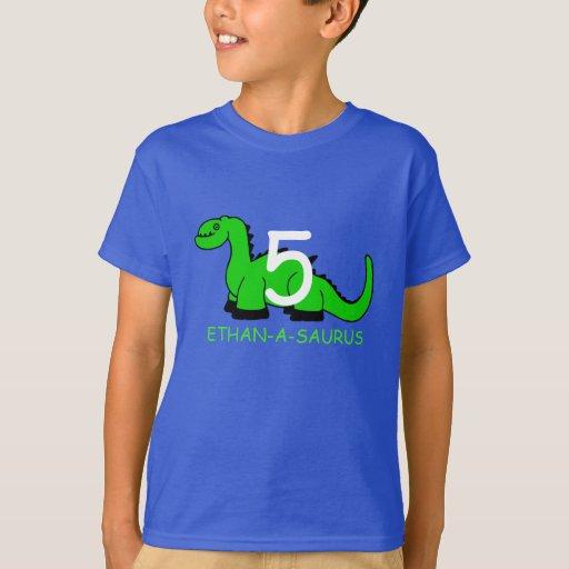 Personalized dinosaur birthday t shirt for kids zazzle for Custom kids t shirts