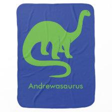 Personalized Dinosaur Blanket Baby Blanket