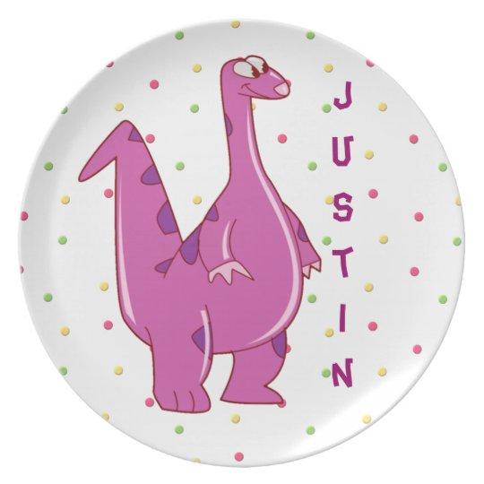 Personalized Dinosaur Plate