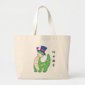 Personalized Dinosaur Tote Canvas Bag