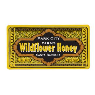 Personalized Dirigible Honey Jar Label