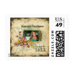 Personalized distressed photo graduation stamps
