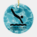 Personalized Diving Ornament