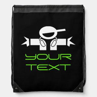 Personalized DJ deejay drawstring backpack bag