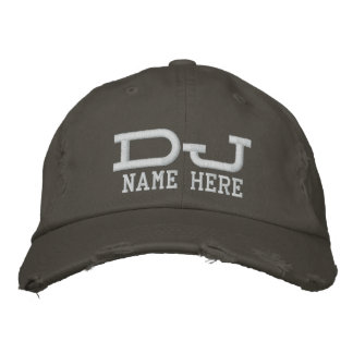 Personalized DJ Embroidered Baseball Hat