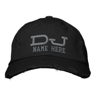 Personalized DJ Embroidered Hat