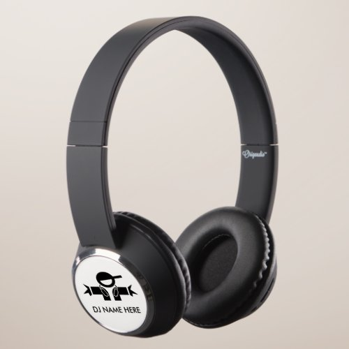 Personalized DJ headphones | Add your deejay name
