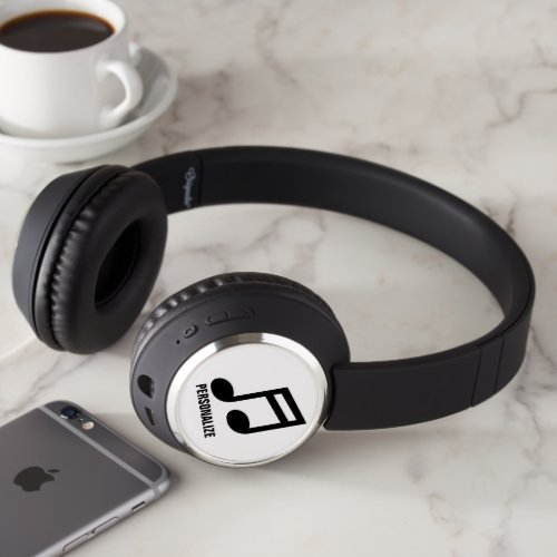 Personalized DJ headphones with custom logo