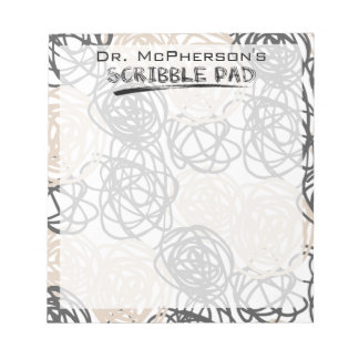 Personalized Doctor's Scribble Pad