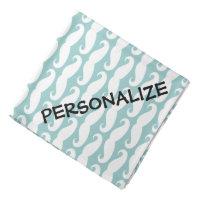 Personalized dog bandana | Teal mustache print
