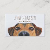 PERSONALIZED DOG BEHAVIORIST BUSINESS CARD