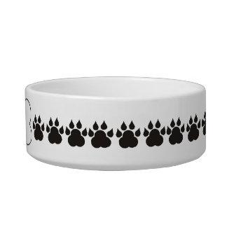 Personalized Dog Bone Paw Print Pet Bowl