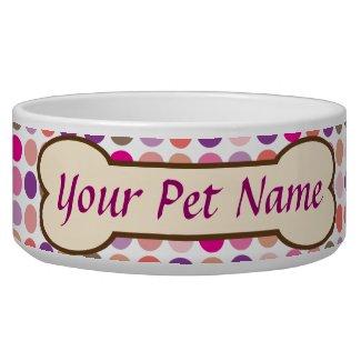 Personalized Dog Bone Pet Dish Dog Food Bowl