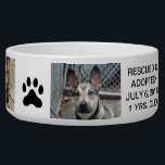 """Personalized Dog Bowl For Your Best Friend Forever<br><div class=""""desc"""">Personalize your favorite pooch with photo and saying,  name,  rescued and adopted,  date,  age,  etc. Great for everyone!  Pet Bowl</div>"""