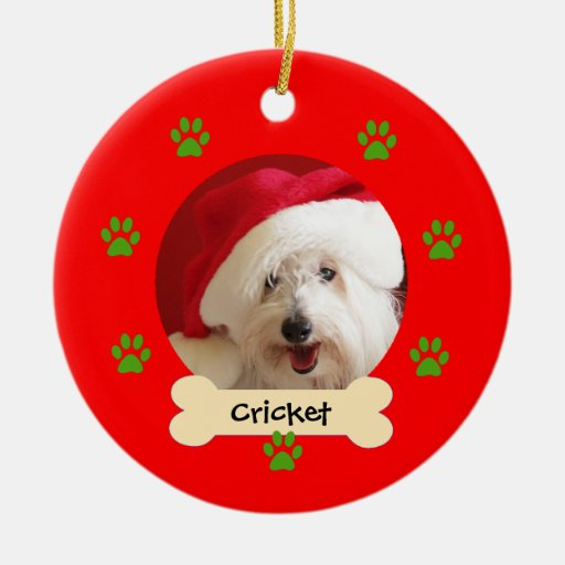 Personalized Dog Christmas Ornament - 1 side