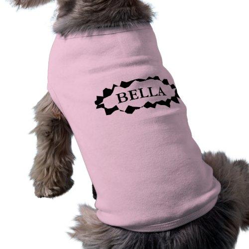Personalized dog clothing with custom female name